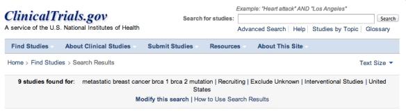9brca studies